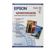C13S041328 EPSON Premium Semiglossy Photo бумага A3+, 251 г/м2, 20 листов