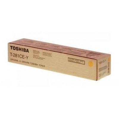 6AK00000107 T-281C-EY Toshiba тонер желтый для копиров e-STUDIO281c/351c/451c